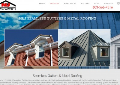 M&J Seamless Gutters