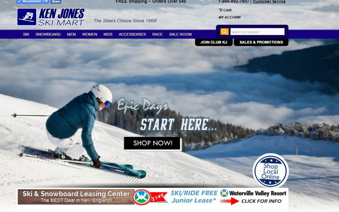 Ken Jones Ski Mart – An ecommerce website and company located in Manchester, NH.