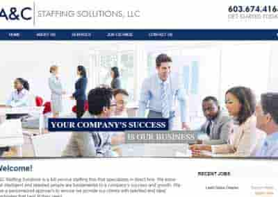 AC Staffing Solutions – A small jobs board website in New Hamsphire.