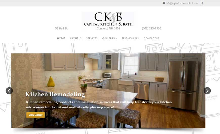 Capital Kitchen & Bath | NH Web Design & Hosting
